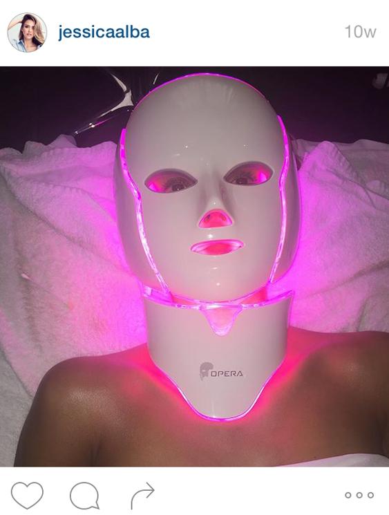 Jessica-Alba-LED-Mask